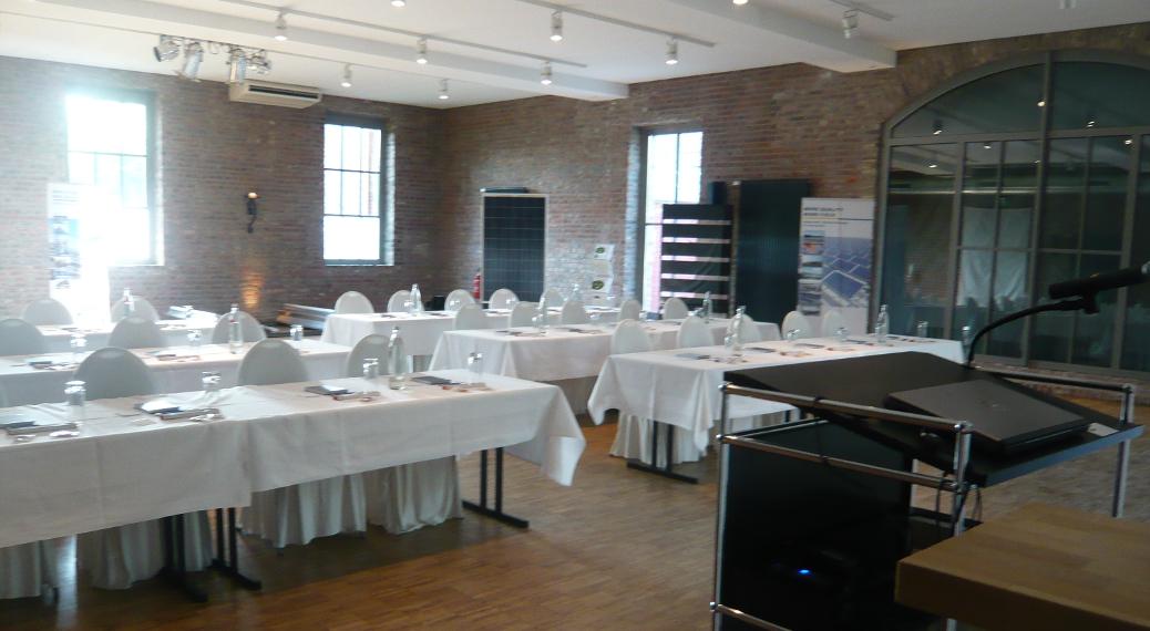 Kundenveranstaltung eines Systemhauses für Photovoltaik